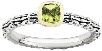 JCPenney FINE JEWELRY Personally Stackable Genuine Peridot Oxidized Two-Tone Stackable Ring