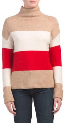 Funnel Neck Stripe Pullover Sweater