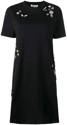 McQ Diamante Deco Swallow dress