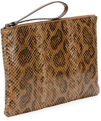 Bottega Veneta Anaconda Snakeskin and Leather Crossbody Bag