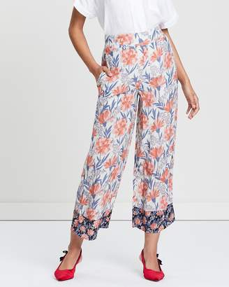 Whistles Floral Border Print Trousers