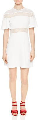 Sandro Angie Mesh-Inset Dress $470 thestylecure.com