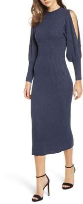 Elliatt Jade Knit Cold Shoulder Dress
