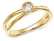 Bloomingdale's Diamond Bezel Crossover Ring in 14K Yellow Gold, 0.10 ct. t.w. - 100% Exclusive