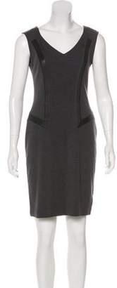 Blumarine Sleeveless Wool Dress Grey Sleeveless Wool Dress