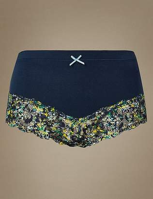 Marks and Spencer Cotton Rich Printed Brazilian Knickers