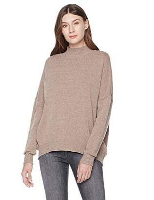 A.Dasher Chunky Fuzzy Mockneck Long Sleeve Crop Sweater Top