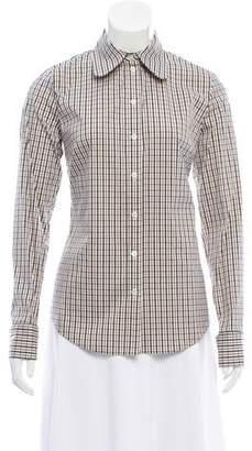 Michael Kors Plaid Button-Up Top