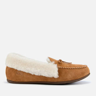 2cd07f67c FitFlop Women's Clara Shearling Moccassin Slippers