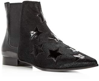 Ash Women's Bliss Calf Hair & Patent Leather Chelsea Booties
