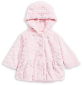 First Impressions Baby Girl's Heart-Quilted Faux Fur Coat