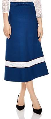 Sandro Ricarda Banded Midi Skirt