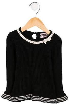 MonnaLisa Girls' Embellished Angora-Blend Sweater