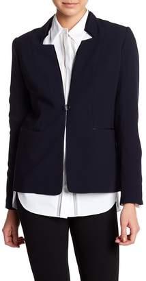 Elie Tahari Macklaine Paneled Crepe Jacket