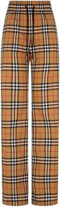 Burberry Vintage Check Wide Leg Trousers