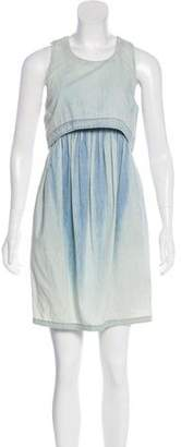 Adam Denim Sleeveless Mini Dress