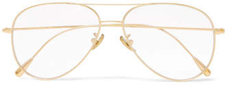 Cutler and Gross Aviator-Style Gold-Plated Optical Glasses