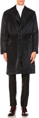 Calvin Klein Belted Nylon Satin Jacket
