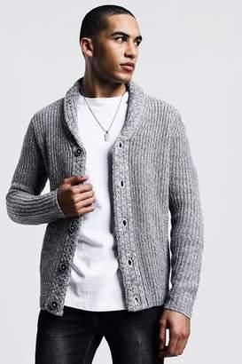 boohoo Shawl Neck Knitted Cardigan