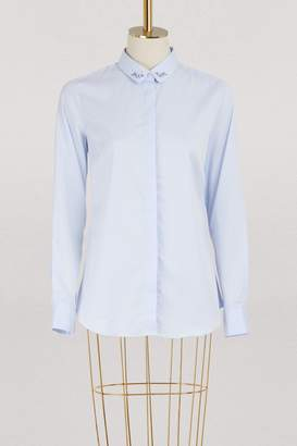 Maison Labiche Oui Non cotton collar shirt
