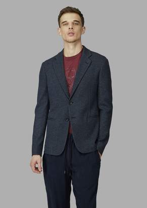 Giorgio Armani Comfort-Fit Single-Breasted Jacquard Jacket