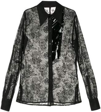 Zambesi floral embroidered sheer shirt