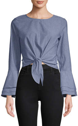 LIKELY Chambray Bell Sleeve Top