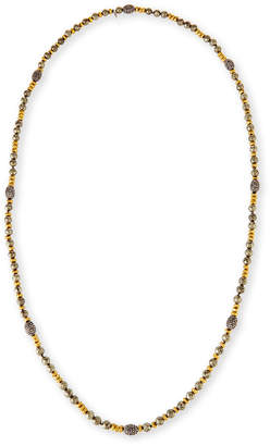 Neiman Marcus Hipchik Ava Pyrite & Golden Nugget Necklace