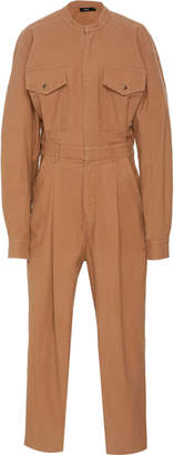 Bassike Oversized Cotton Sateen Jumpsuit