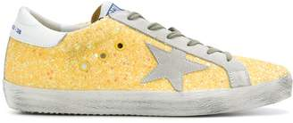 Golden Goose Yellow Glitter Superstar Sneaker