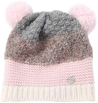 Simonetta Wool Boucle Hat W/ Pompoms