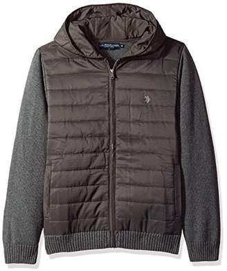 U.S. Polo Assn. Men's Quilted Full Zip Hoodie Sweater