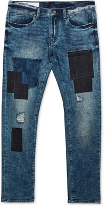 Armani Exchange Men's Slim-Fit Patchwork Jeans