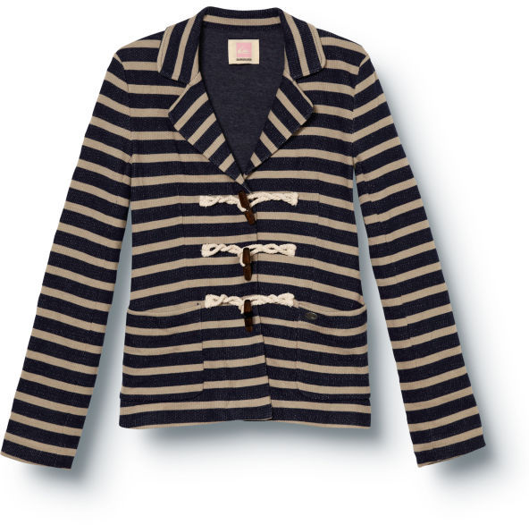 Quiksilver Port Stripe Fleece Blazer
