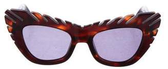 House of Holland Comb Over Cat-Eye Sunglasses w/ Tags