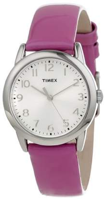 Timex Women's T2P1182M Purple Patent Leather Strap Watch $39.99 thestylecure.com