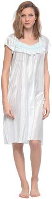 Casual Nights Women's Cap Sleeve Flower Silky Tricot Nightgown