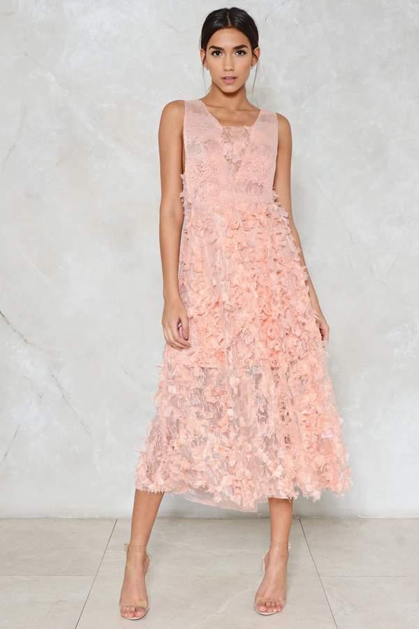 nastygal Coming Up Roses Midi Dress