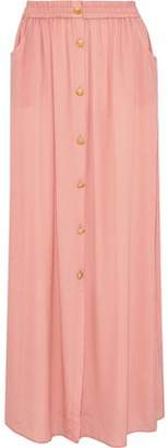 Pierre Balmain Gathered Crepe De Chine Maxi Skirt