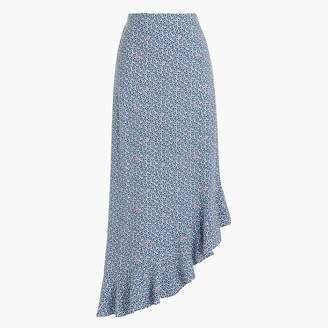 J.Crew Asymmetrical ruffle midi skirt