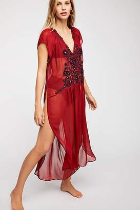 Love Song Embroidered Maxi Top