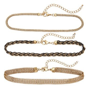 Women's Treasure & Bond Set Of Three Chain Chokers $39 thestylecure.com