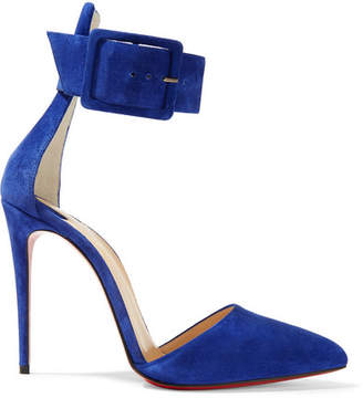 Christian Louboutin Harler 100 Suede Pumps - Royal blue