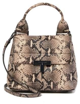 T Tahari Reset Leather Crossbody Bag