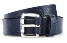 HUGO Buckled belt in Italian saffiano-printed leather