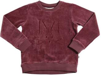 Molo Embroidered Cotton Chenille Sweatshirt