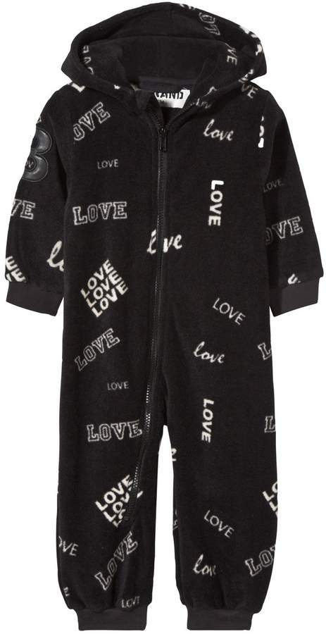 The Brand Black Eagle Print Fleece Onesie