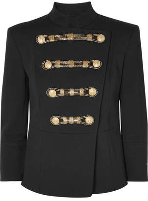 Pierre Balmain Embellished Twill Blazer - Black
