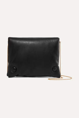 Nanushka Tao Faux Leather Shoulder Bag - Black