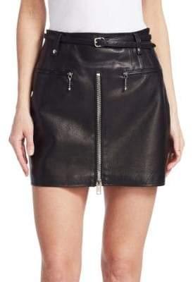 Alexander Wang Moto Leather Mini Skirt